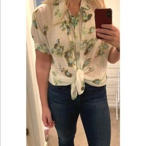Jessica Simpson Tops - Floral sheer top